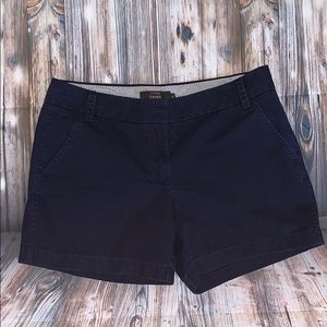Navy Blue J.Crew Chino Shorts